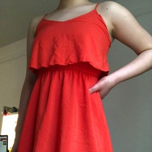 Red tank top h&m mini dress